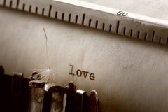 Impression de machine à écrire de vintage Image stock