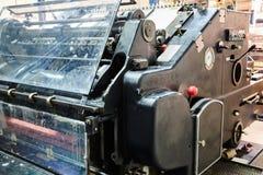 Impression de machine de cylindre de lithographie d'imprimante images libres de droits