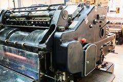 Impression de machine de cylindre de lithographie d'imprimante photos stock