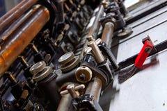 Impression de machine de cylindre de lithographie d'imprimante images stock