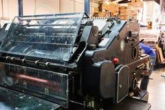 Impression de machine de cylindre de lithographie d'imprimante photos libres de droits