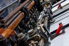 Impression de machine de cylindre de lithographie d'imprimante image libre de droits