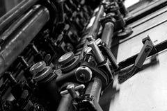 Impression de machine de cylindre de lithographie d'imprimante image stock