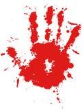 Impression de main d'éclaboussure d'encre de baisse rouge Photos libres de droits