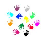 Impression de mains Image stock