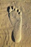 Impression de pied Photographie stock