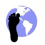 Impression de pied de carbone Images stock