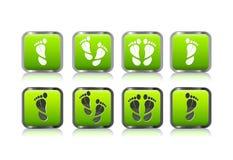 Impression de pied sous la forme du positionnement de graphisme de lame illustration de vecteur