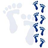 Impression de pieds de chéri Photos libres de droits