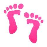 Impression de pieds de chéri Photographie stock libre de droits