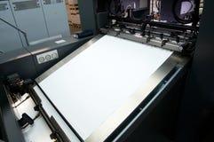 Impression de presse - machine excentrée (papier de groupe) image stock