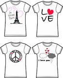 Impression de T-shirt Image stock