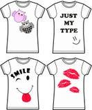Impression de T-shirt Images stock