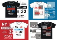 Impression de T-shirt, image de vecteur Images libres de droits