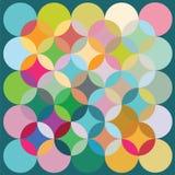 Impression de vecteur de couleurs grandes d'éléments ronds Images libres de droits