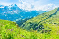 Impression des chaînes de montagne Photographie stock libre de droits