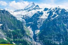 Impression des chaînes de montagne parachuter Photos libres de droits