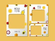 Impression du bonbon à fruit de menu de calibre illustration stock