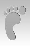 impression en métal de pied Photo libre de droits