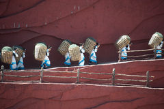 Impression Lijiang is traditional dance in China. Stock Photos