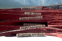 Impression Lijiang is traditional dance in China. Royalty Free Stock Photography