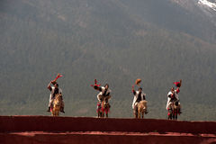 Impression Lijiang is traditional dance in China. Stock Images