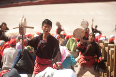 Impression Lijiang is traditional dance in China. Stock Image