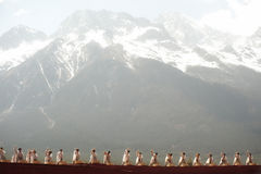 Impression Lijiang is traditional dance in China. Stock Photo