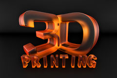 impression orange en verre 3d Photographie stock libre de droits