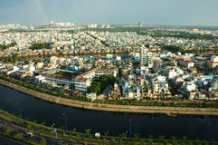Impression panaromic of Asia city on day Royalty Free Stock Photo