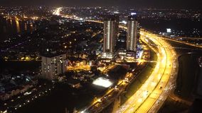 Impression panorama of big city, new urban with villas. HO CHI MINH , VIET NAM- Dec 08, 2014 : Impression panorama of big city, new urban with villas, building stock footage