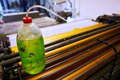 Impression rotatoire de machine d'encre d'imprimerie photos stock