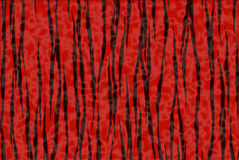 Impression rouge et noire de tigre Photographie stock libre de droits