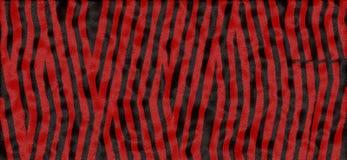Impression rouge et noire de tigre Photographie stock