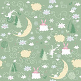 Impression sans couture de Noël Photos stock