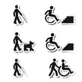 Impression. Stickers about handicap and blind people Stock Photography