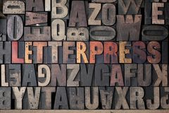 Impression typographique Image stock