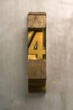 Impression typographique 4 Photo stock