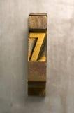 Impression typographique 7 Photo libre de droits