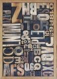Impression typographique images stock