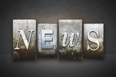 Impression typographique d'actualités Images stock
