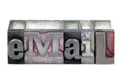 impression typographique d'email Photos stock