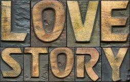 Impression typographique d'histoire d'amour Photo libre de droits