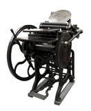 Impression typographique de 1888 images stock