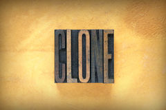 Impression typographique de clone Photos stock