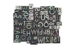 impression typographique de fond faite au hasard Photographie stock libre de droits