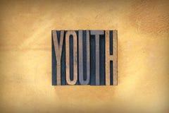 Impression typographique de la jeunesse images libres de droits