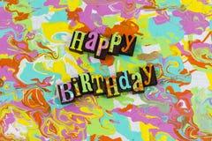 Impression typographique de salutation de joyeux anniversaire illustration libre de droits