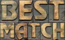 Impression typographique en bois du meilleur match Images libres de droits