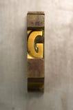 Impression typographique G Images libres de droits